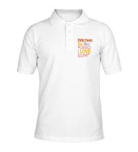 Рубашка поло Bitches, I love EDM