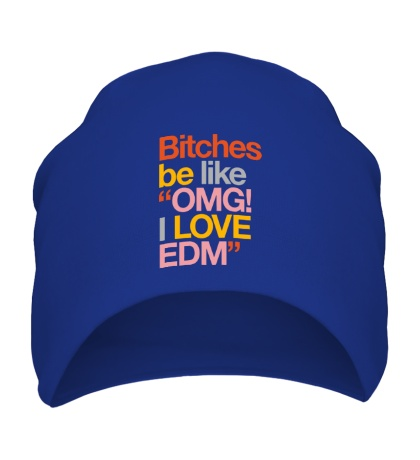 Шапка Bitches, I love EDM