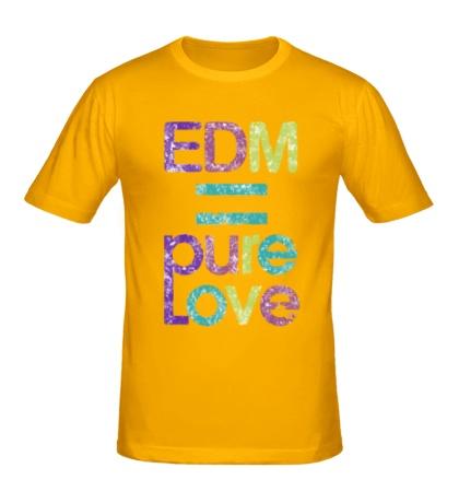 Мужская футболка EDM pure love