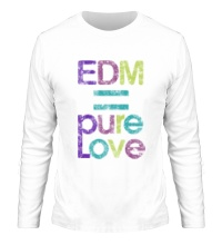 Мужской лонгслив EDM pure love
