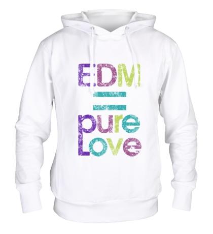 Толстовка с капюшоном EDM pure love