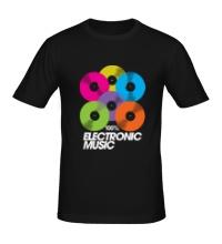 Мужская футболка Electronic Vynil Music