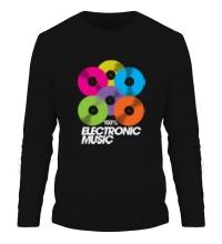 Мужской лонгслив Electronic Vynil Music