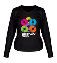 Женский лонгслив Electronic Vynil Music