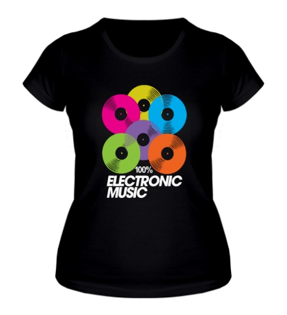 Женская футболка Electronic Vynil Music