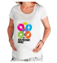 Футболка для беременной Electronic Vynil Music