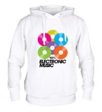 Толстовка с капюшоном Electronic Vynil Music
