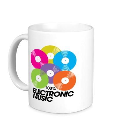 Керамическая кружка Electronic Vynil Music