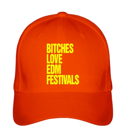 Бейсболка Bitches love EDM festivals
