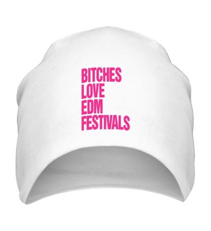 Шапка Bitches love EDM festivals