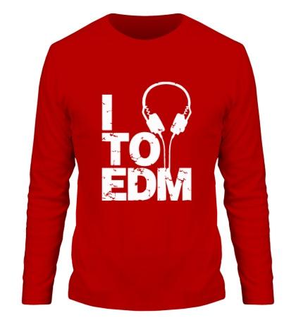 Мужской лонгслив I listen to EDM