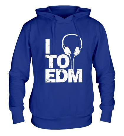 Толстовка с капюшоном I listen to EDM