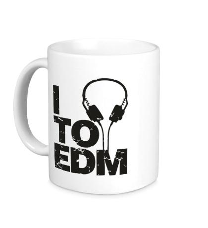 Керамическая кружка I listen to EDM
