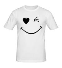 Мужская футболка Подмигивающий смайлик