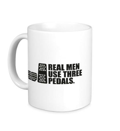 Керамическая кружка Настоящие мужики используют три педали