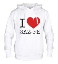 Толстовка с капюшоном I love 2AZ-FE