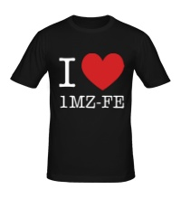 Мужская футболка I love 1MZ-FE
