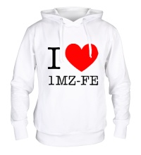 Толстовка с капюшоном I love 1MZ-FE