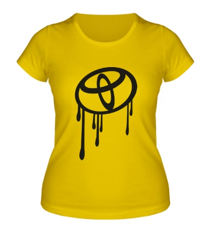 Женская футболка Стекающий Тойота
