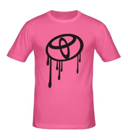 Мужская футболка Стекающий Тойота