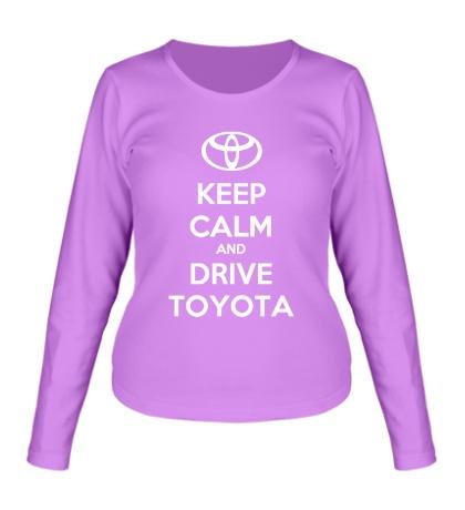 Женский лонгслив Keep calm and drive Toyota