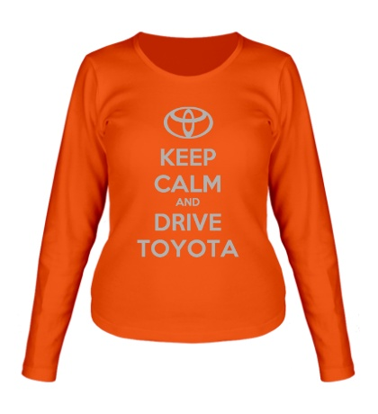 Женский лонгслив Keep calm and drive Toyota