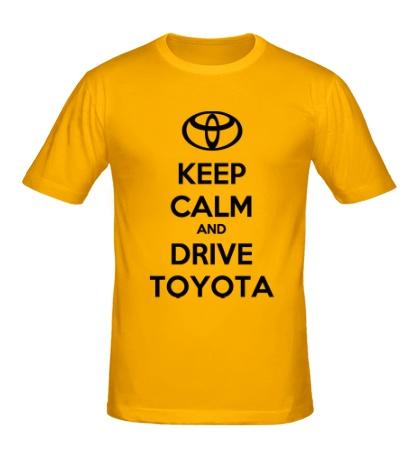 Мужская футболка Keep calm and drive Toyota