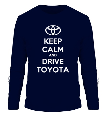 Мужской лонгслив Keep calm and drive Toyota