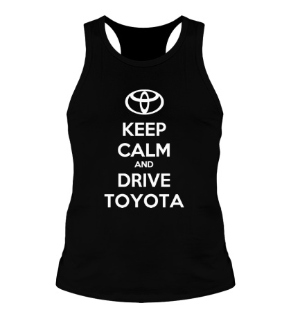 Мужская борцовка Keep calm and drive Toyota