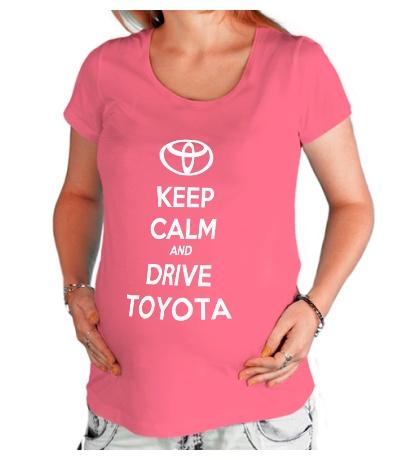 Футболка для беременной Keep calm and drive Toyota
