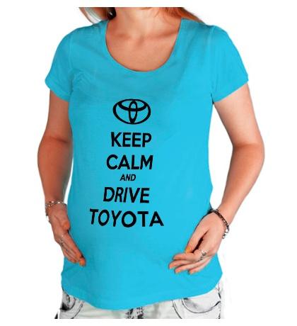 Футболка для беременной «Keep calm and drive Toyota»