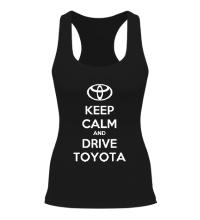 Женская борцовка Keep calm and drive Toyota