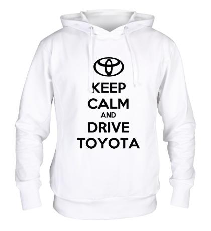 Толстовка с капюшоном Keep calm and drive Toyota