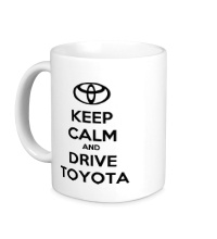 Керамическая кружка Keep calm and drive Toyota