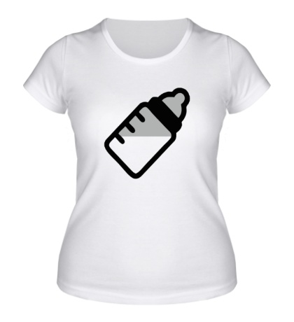 Женская футболка Бутылочка с молоком
