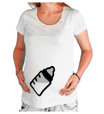 Футболка для беременной Бутылочка с молоком