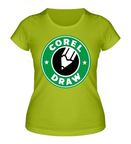 Женская футболка Corel Draw