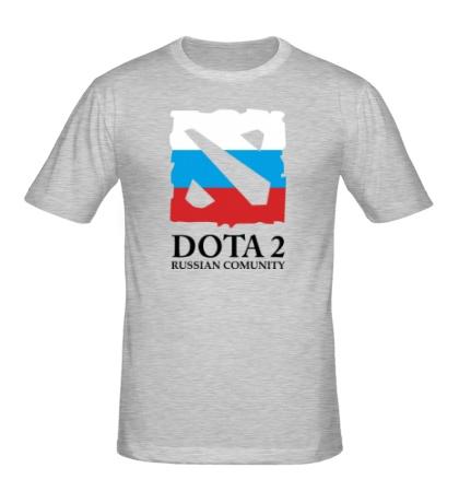 Мужская футболка Dota 2: Russian Comunity