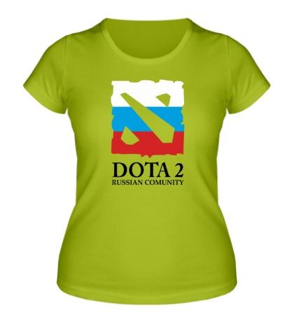 Женская футболка Dota 2: Russian Comunity