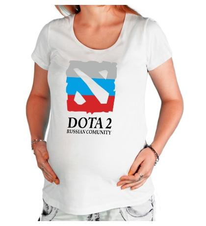 Футболка для беременной Dota 2: Russian Comunity