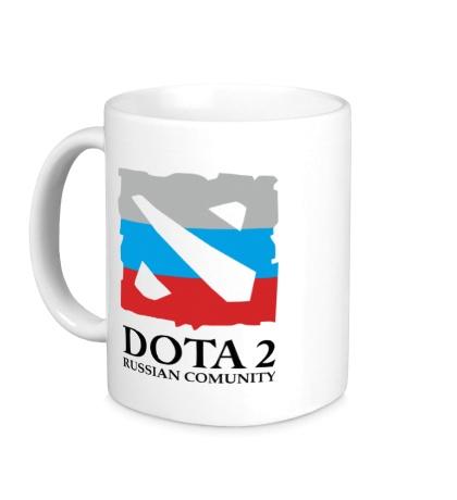 Керамическая кружка Dota 2: Russian Comunity