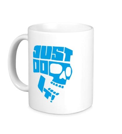 Керамическая кружка Just Do It: Skull