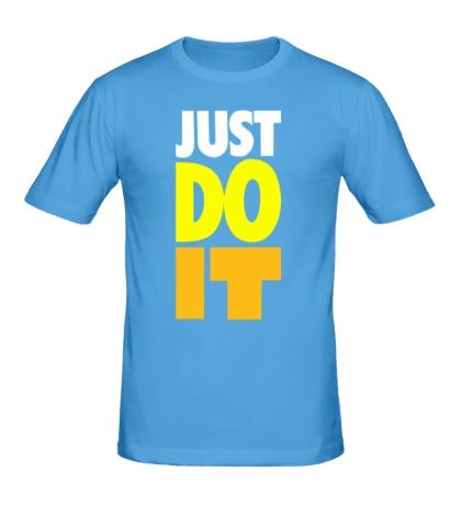 Мужская футболка Just Do It: Color