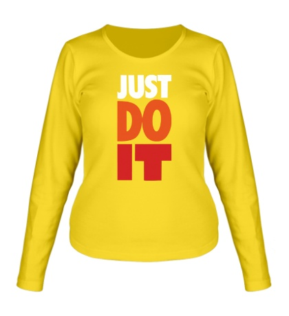 Женский лонгслив Just Do It: Color
