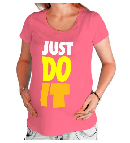 Футболка для беременной Just Do It: Color