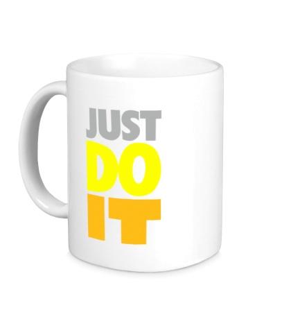 Керамическая кружка Just Do It: Color