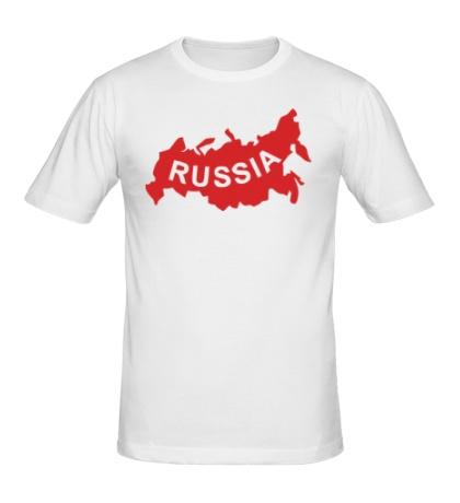 Мужская футболка Карта России