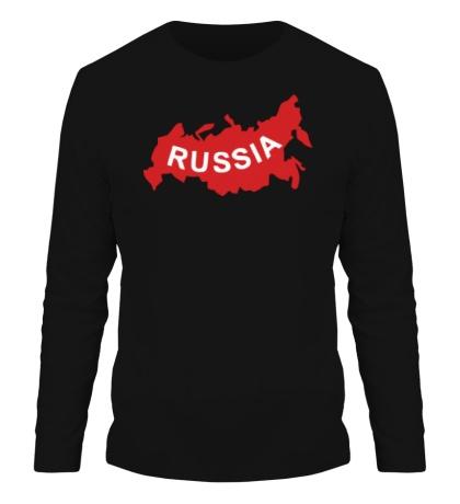 Мужской лонгслив Карта России