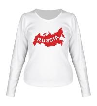 Женский лонгслив Карта России