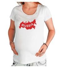 Футболка для беременной Карта России